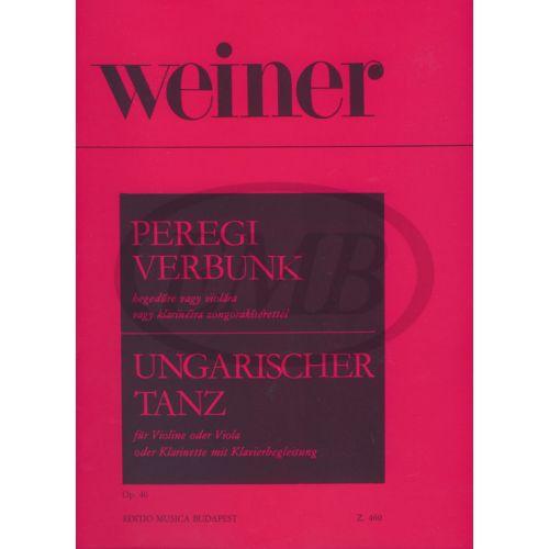 EMB (EDITIO MUSICA BUDAPEST) WEINER L. - DANZA UNGHERESE OP. 40 - VIOLON ET PIANO