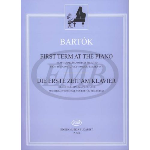 EMB (EDITIO MUSICA BUDAPEST) BARTOK B. - FIRST TERM AT THE PIANO - PIANO