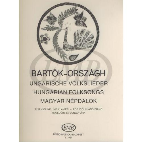 EMB (EDITIO MUSICA BUDAPEST) BARTOK B. - DANZE POPOLARI UNGHERESI - VIOLON ET PIANO