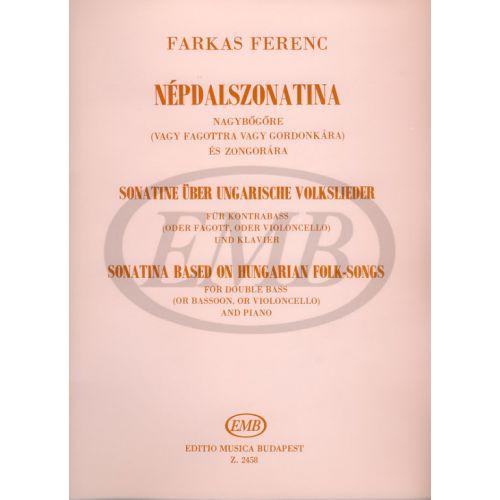 EMB (EDITIO MUSICA BUDAPEST) FARKAS F. - SONATINA DA UN CANTO POPOLARE UNGHERESE - VIOLONCELLE ET PIANO