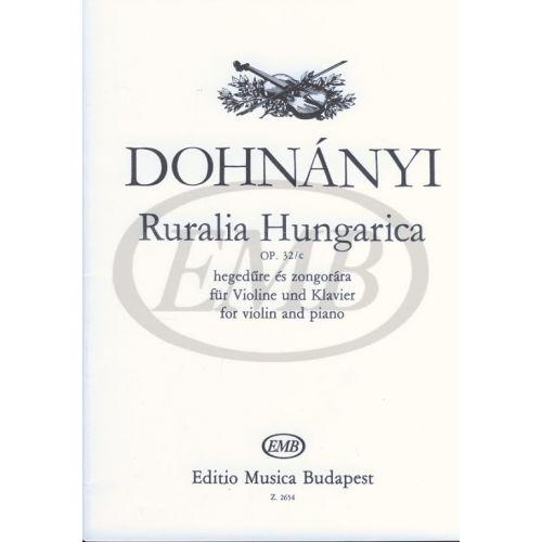 EMB (EDITIO MUSICA BUDAPEST) DOHNANY E. - RURALIA HUNGARICA OP. 32 C - VIOLON ET PIANO