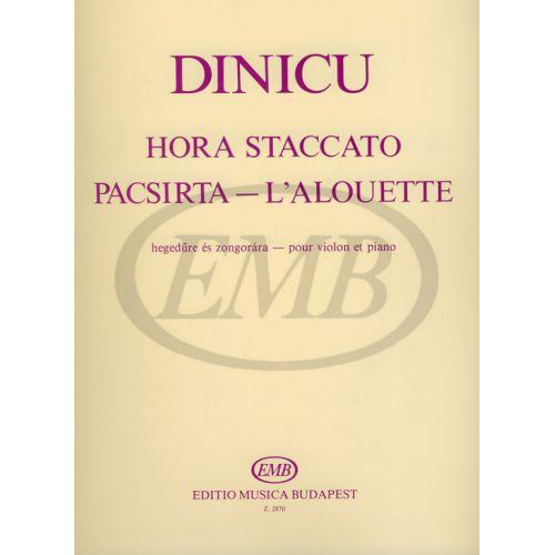EMB (EDITIO MUSICA BUDAPEST) DINICU G. - HORA STACCATO E ALLODOLA - VIOLON ET PIANO