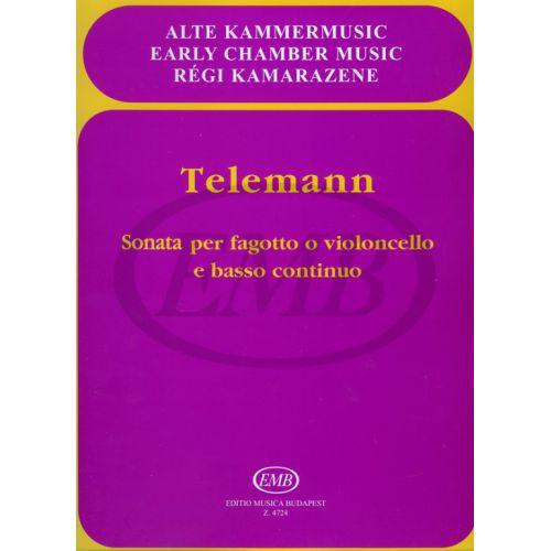 EMB (EDITIO MUSICA BUDAPEST) TELEMANN G.P. - SONATA MI - BASSON ET PIANO