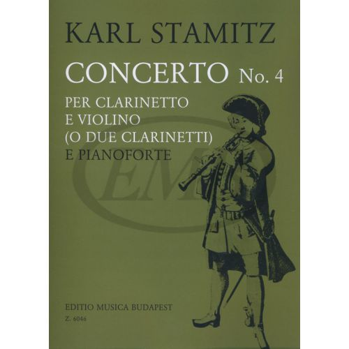EMB (EDITIO MUSICA BUDAPEST) STAMITZ K. - CONCERTO N. 4 EN SI - CLARINETTE ET PIANO