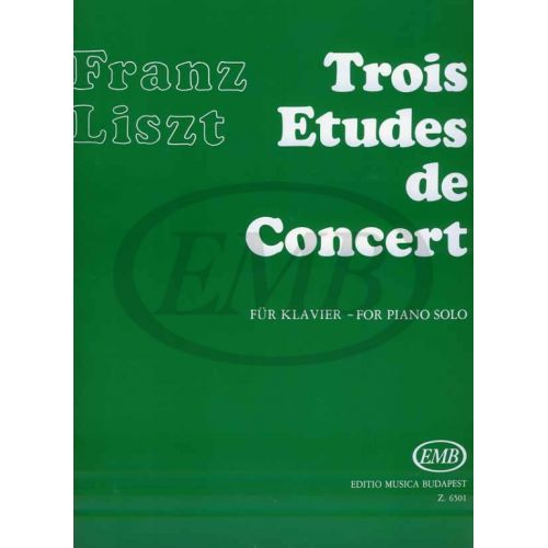 EMB (EDITIO MUSICA BUDAPEST) LISZT F. - STUDI DA CONCERTO (3)- LAMENTO, LEGGEREZZA, SOSPIRO - PIANO