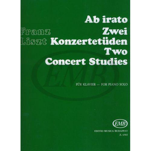 EMB (EDITIO MUSICA BUDAPEST) LISZT F. - STUDI DA CONCERTO (2) E AB IRATO - PIANO