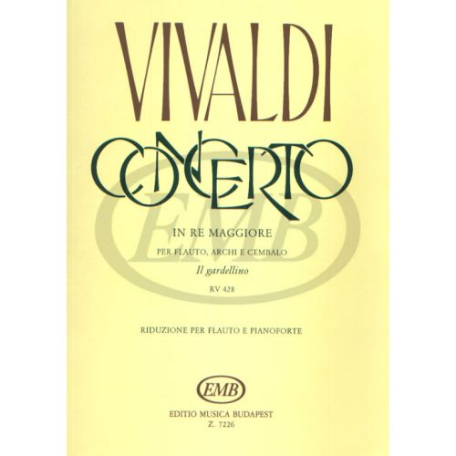 EMB (EDITIO MUSICA BUDAPEST) VIVALDI A. - CONCERTO OP. 10 N. 3 - FLUTE ET PIANO