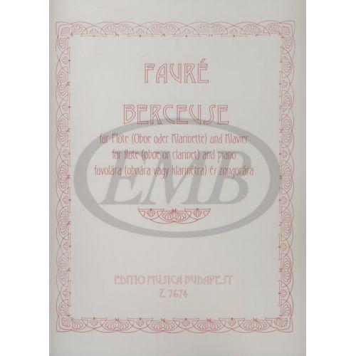 EMB (EDITIO MUSICA BUDAPEST) FAURE G. - BERCEUSE OP. 16 - FLUTE ET PIANO