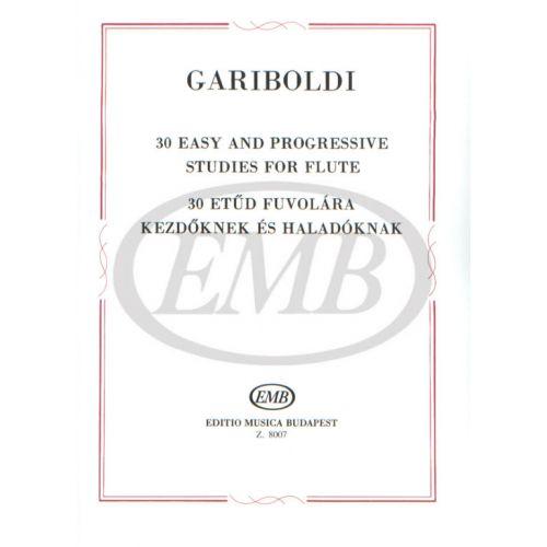 EMB (EDITIO MUSICA BUDAPEST) GARIBOLDI G. - STUDI FACILI E PROGRESSIVI (30) - FLUTE