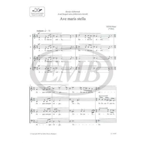 EMB (EDITIO MUSICA BUDAPEST) TOTH P. - AVE MARIS STELLA - CHOEUR