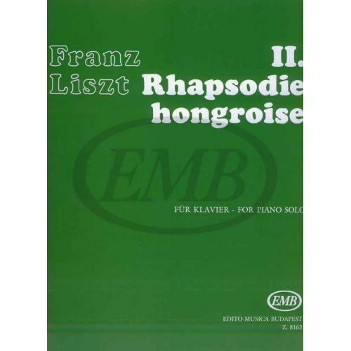 EMB (EDITIO MUSICA BUDAPEST) LISZT F. - RAPSODIA UNGHERESE N. 2 - PIANO
