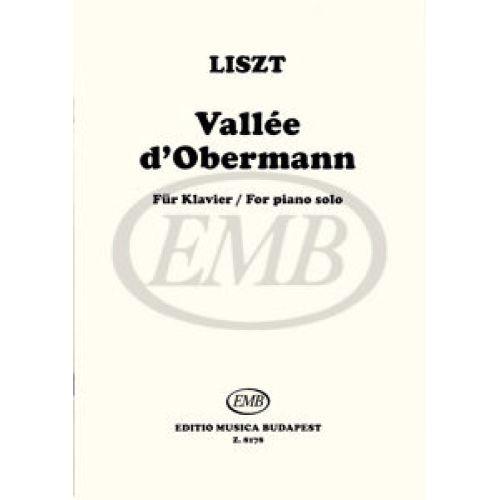 EMB (EDITIO MUSICA BUDAPEST) LISZT F. - VALLEE D'OBERMANN - PIANO