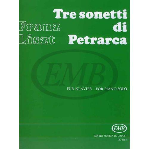 EMB (EDITIO MUSICA BUDAPEST) LISZT F. - SONETTI DI PETRARCA (3) - PIANO