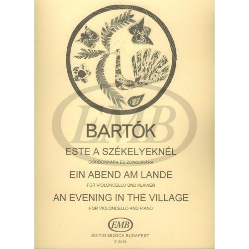 EMB (EDITIO MUSICA BUDAPEST) BARTOK B. - EVENING IN THE VILLAGE - VIOLONCELLE ET PIANO