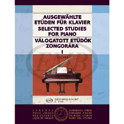 EMB (EDITIO MUSICA BUDAPEST) SELECTED STUDIES VOL. 1 - PIANO