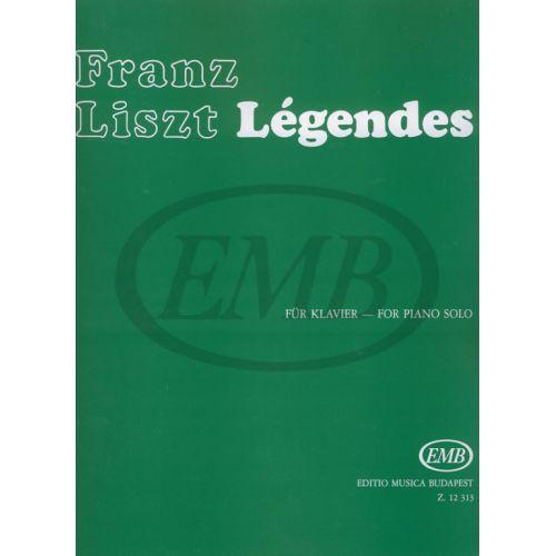 EMB (EDITIO MUSICA BUDAPEST) LISZT F. - LEGGENDE - PIANO