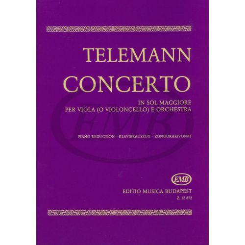 EMB (EDITIO MUSICA BUDAPEST) TELEMANN G.P. - CONCERTO SOL - ALTO
