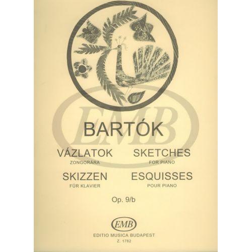 EMB (EDITIO MUSICA BUDAPEST) BARTOK B. - SKETCHES OP. 9 B - PIANO