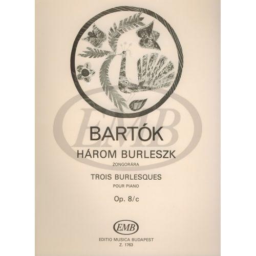 EMB (EDITIO MUSICA BUDAPEST) BARTOK B. - BURLESCHE (3) OP. 8 C - PIANO