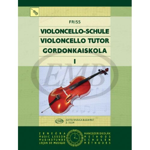 EMB (EDITIO MUSICA BUDAPEST) VIOLONCELLO TUTOR VOL. 1 - CELLO