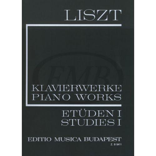 EMB (EDITIO MUSICA BUDAPEST) LISZT FRANZ - STUDIES VOL.1 - PIANO