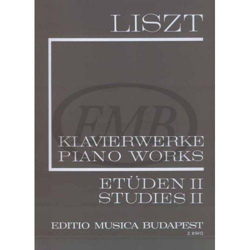 EMB (EDITIO MUSICA BUDAPEST) LISZT FRANZ - SUDIES VOL.2 - PIANO