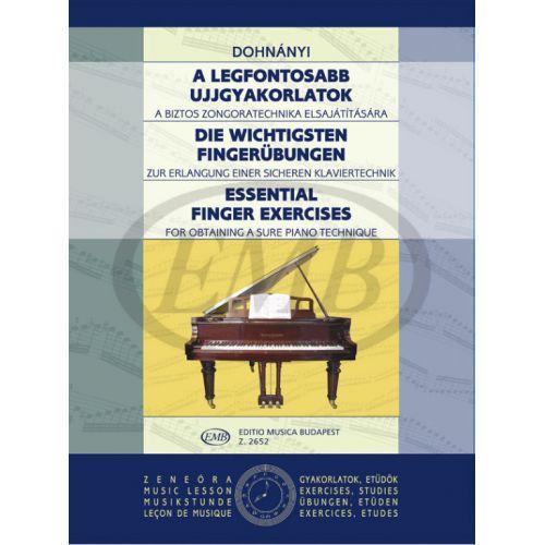 EMB (EDITIO MUSICA BUDAPEST) DOHNANY E. - ESSENTIAL FINGER EXERCISES - PIANO