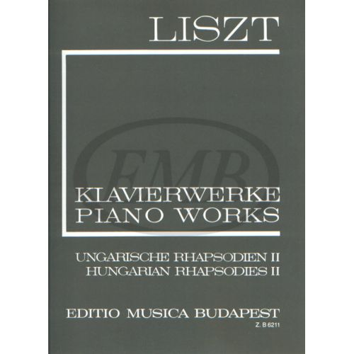 EMB (EDITIO MUSICA BUDAPEST) LISZT FRANZ - RHAPSODIES HONGROISES VOL.2 N°10-19 - PIANO
