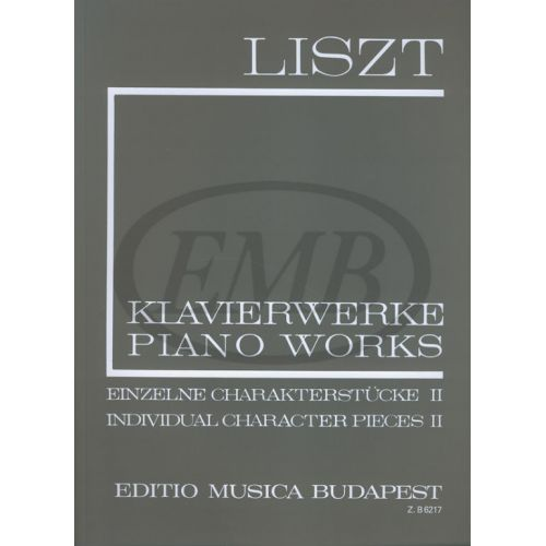 EMB (EDITIO MUSICA BUDAPEST) LISZT F. - INDIVIDUAL CHARACTER PIECES VOL 2 - PIANO