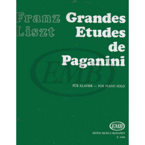 EMB (EDITIO MUSICA BUDAPEST) LISZT F. - STUDI DI PAGANINI (6) - PIANO