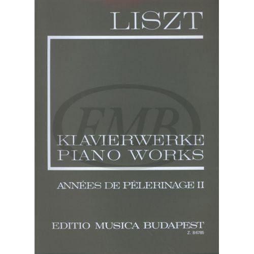 EMB (EDITIO MUSICA BUDAPEST) LISZT F. - ANNEES DE PELERINAGE VOL 2 - PIANO