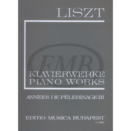 EMB (EDITIO MUSICA BUDAPEST) LISZT F. - ANNEES DE PELERINAGE VOL 3 - PIANO