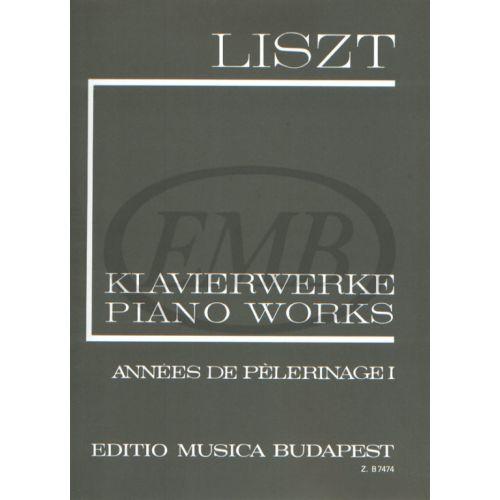 EMB (EDITIO MUSICA BUDAPEST) LISZT F. - ANNEES DE PELERINAGE VOL. 1 - PIANO