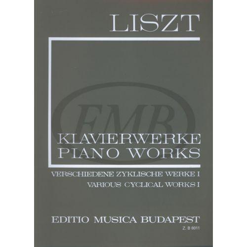 EMB (EDITIO MUSICA BUDAPEST) LISZT F. - VARIOUS CYCLICAL WORKS VOL 1 - PIANO