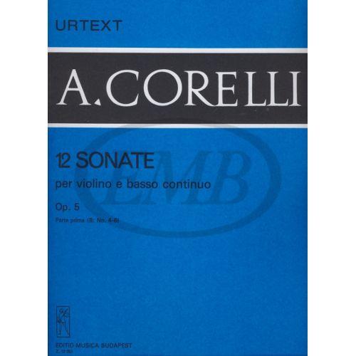 EMB (EDITIO MUSICA BUDAPEST) CORELLI A. - SONATE (12) OP. 5 VOL. 1 B - VIOLON ET PIANO