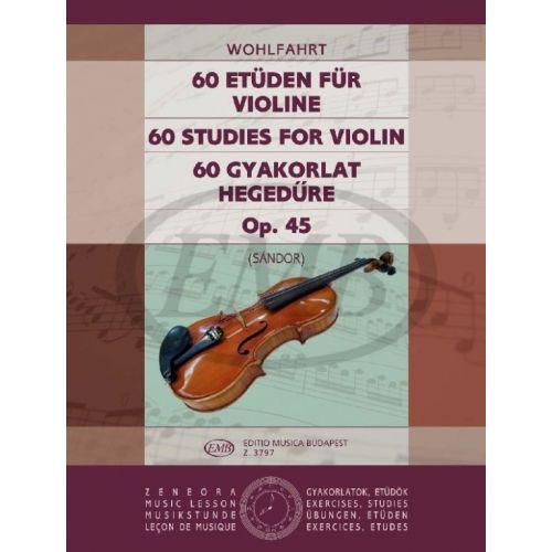 EMB (EDITIO MUSICA BUDAPEST) WOHLFAHRT F. - STUDI (60) OP. 45 - VIOLON