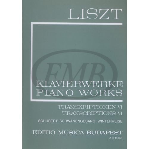 EMB (EDITIO MUSICA BUDAPEST) LISZT F. - TRANSCRIPTIONS VOL 6 - PIANO