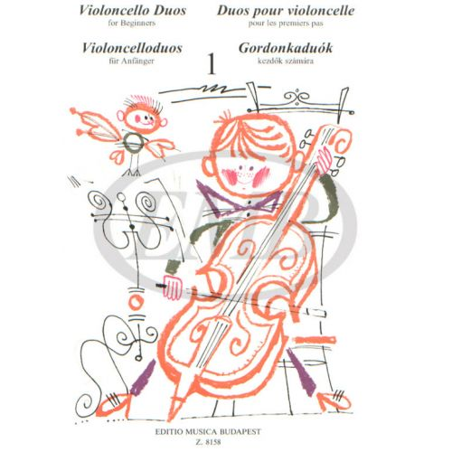 EMB (EDITIO MUSICA BUDAPEST) VIOLONCELLO DUOS FOR BEGINNERS VOL.1