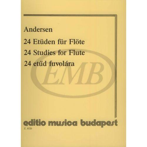 EMB (EDITIO MUSICA BUDAPEST) ANDERSEN J. - STUDI (24) OP. 15 - FLUTE