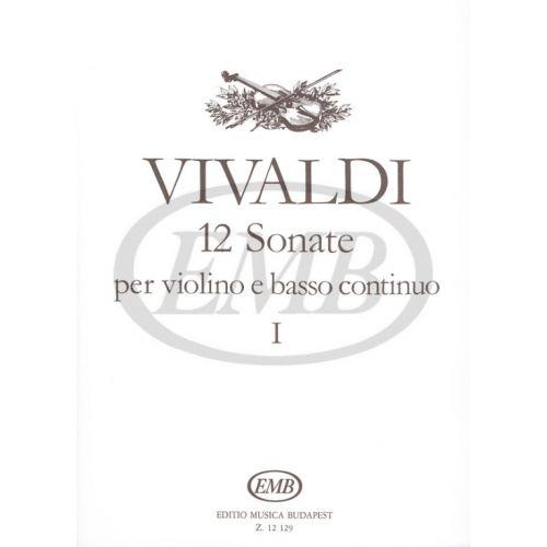 EMB (EDITIO MUSICA BUDAPEST) VIVALDI A. - SONATE (12) VOL. 1 - VIOLON ET PIANO