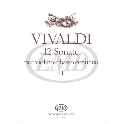 EMB (EDITIO MUSICA BUDAPEST) VIVALDI A. - SONATE (12) VOL. 2 - VIOLON ET PIANO