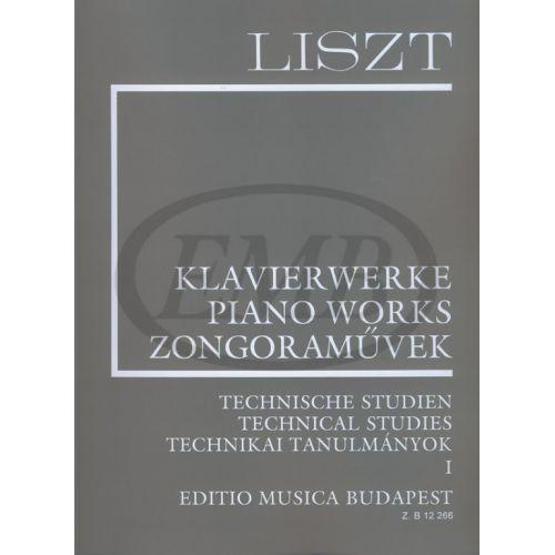 EMB (EDITIO MUSICA BUDAPEST) LISZT FRANZ - TECHNICAL STUDIES 1 - PIANO