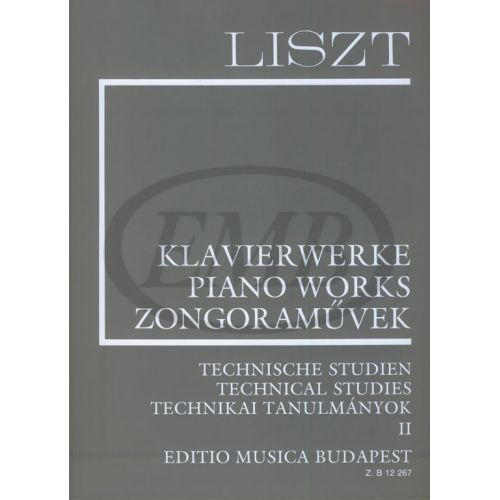 EMB (EDITIO MUSICA BUDAPEST) LISZT F. - TECHNICAL STUDIES VOL 2 - PIANO