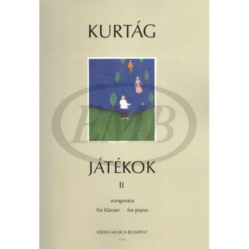 EMB (EDITIO MUSICA BUDAPEST) KURTAG G. - GAMES VOL. 2 - PIANO