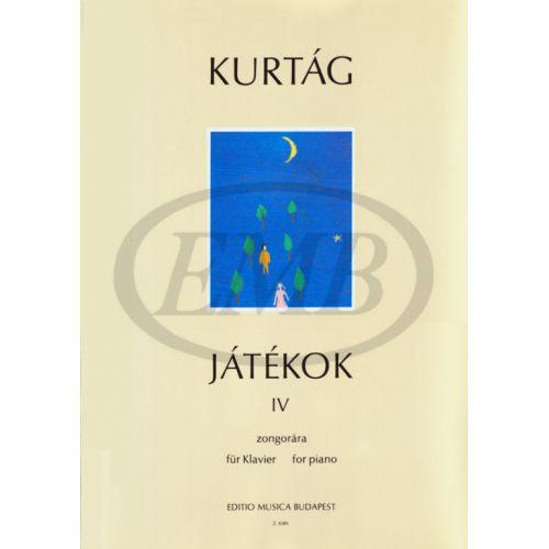 EMB (EDITIO MUSICA BUDAPEST) KURTAG G. - GAMES VOL. 4 - PIANO