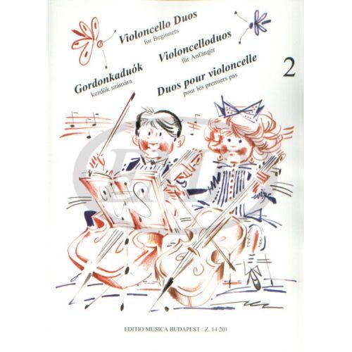 EMB (EDITIO MUSICA BUDAPEST) VIOLONCELLO DUOS FOR BEGINNERS VOL.2 - VIOLONCELLE