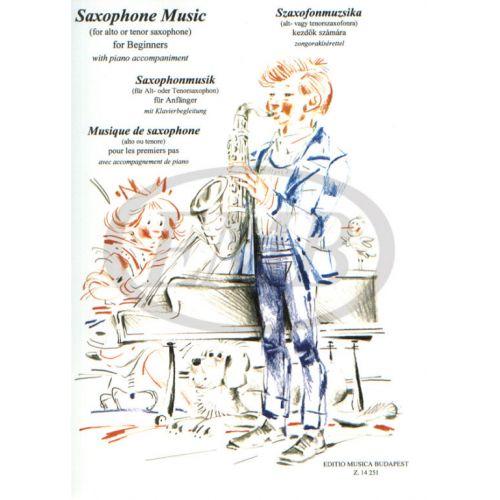 EMB (EDITIO MUSICA BUDAPEST) MUSICA PER PRINCIPIANTI - SAXOPHONE ET PIANO
