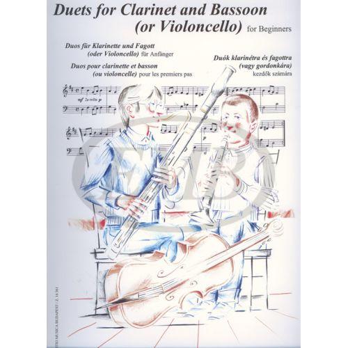 EMB (EDITIO MUSICA BUDAPEST) DUETS - CLARINET AND BASSOON