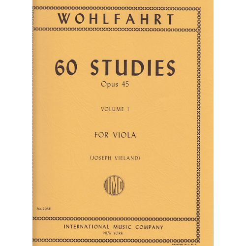 IMC WOHLFAHRT F. - 60 ETUDES OP. 45 VOL. 1 - ALTO