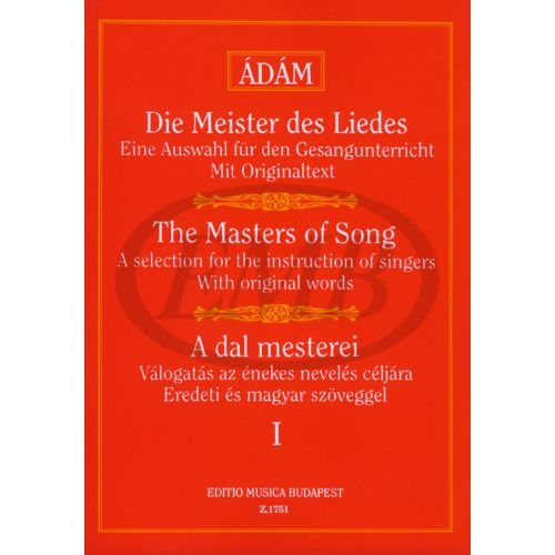 EMB (EDITIO MUSICA BUDAPEST) MASTERS OF SONG VOL.1 - VOICE AND PIANO